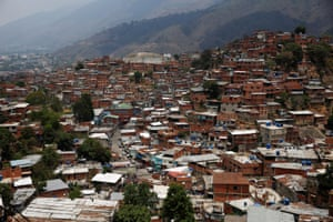 The general view of Petare slum in Caracas