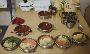 Meals at an orphanage in Minsk.
