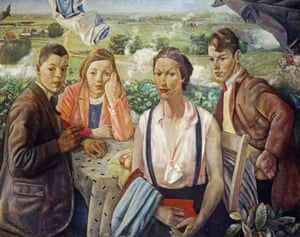 A Portrait Group, 1933, by James Cowie from the Scottish National Gallery of Modern Art's True to Life show.