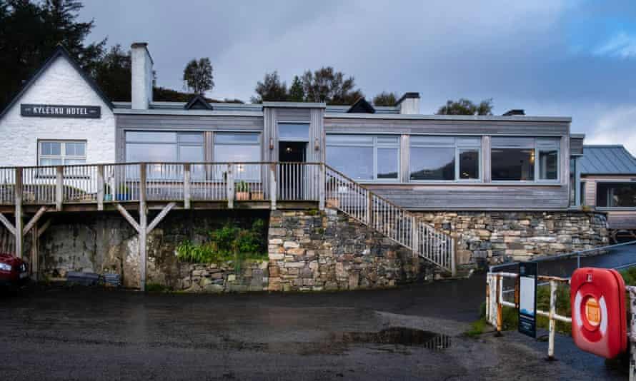 On the banks of Loch Glendhu… Kylesku Hotel, Sutherland.