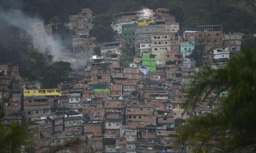 The Rocinha favela, where a police operation on Saturday left at least eight dead