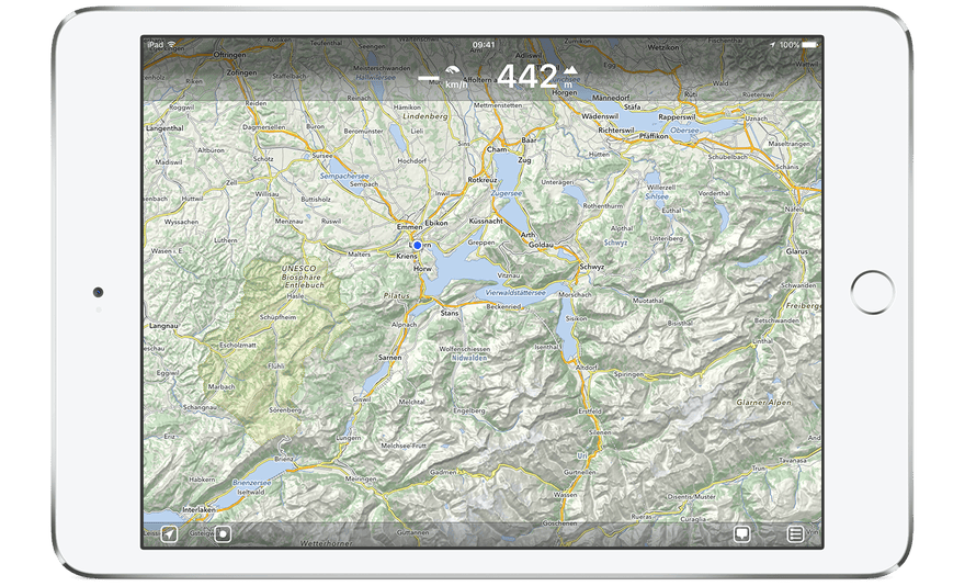 MapOut app Screenshot on an iPad.