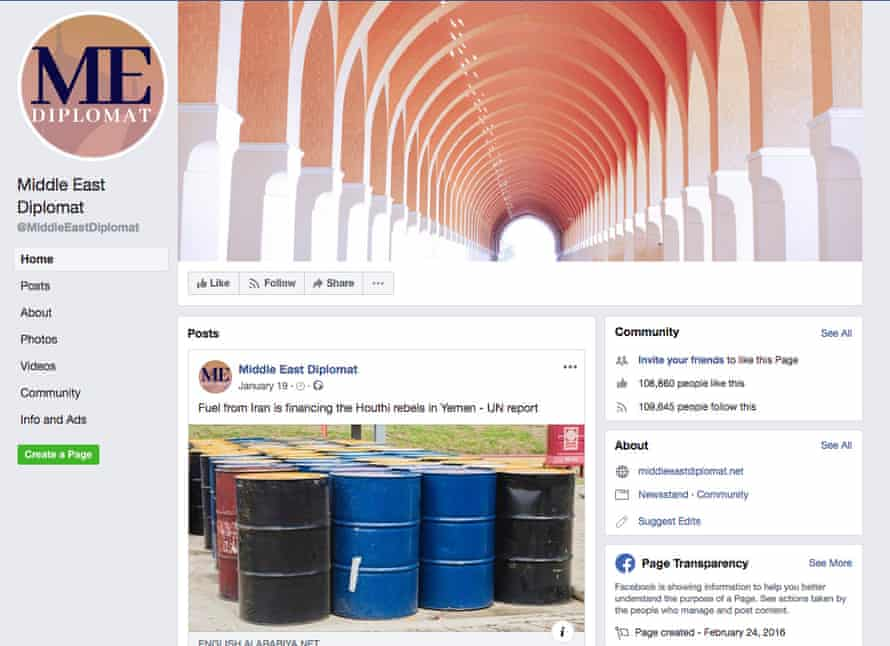 Middle East Diplomat Facebook page