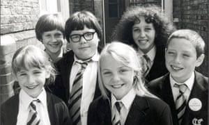 As Zammo, far right, in Grange Hill.
