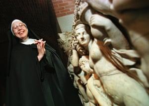 Sister Wendy Beckett in 1997, pictured at the Isabella Stewart Gardner Museum in Boston.