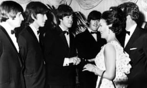 'Your highness, we can't eat until you go …' the Beatles meet Princess Margaret at the London Pavilion, Piccadilly Circus, 1965.