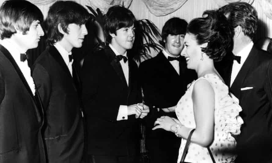 With the Beatles at the premiere of Help! in 1965.