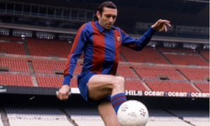 Quini at the Camp Nou in 1981, the year he was kidnapped in an ordeal that lasted for 25 days.