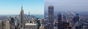 New York and Chicago.