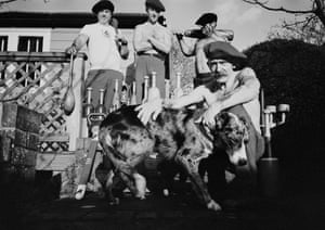 Members of Medway Indian Clubs with Dog. Rochester, 2020