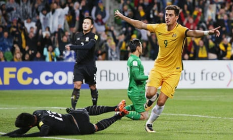 Socceroos sweat on World Cup hopes after scraping win over Thailand