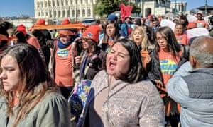Greisa Martinez (center), a Daca recipient, attends a United We Dream rally.