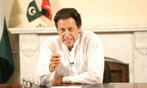 Imran Khan addresses the nation after his party's general election victory on 26 July.