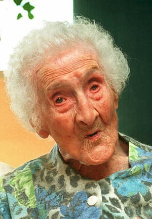 Jeanne Calment in 1995, aged 119.