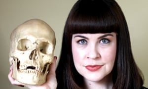 Caitlin Doughty and a friend.