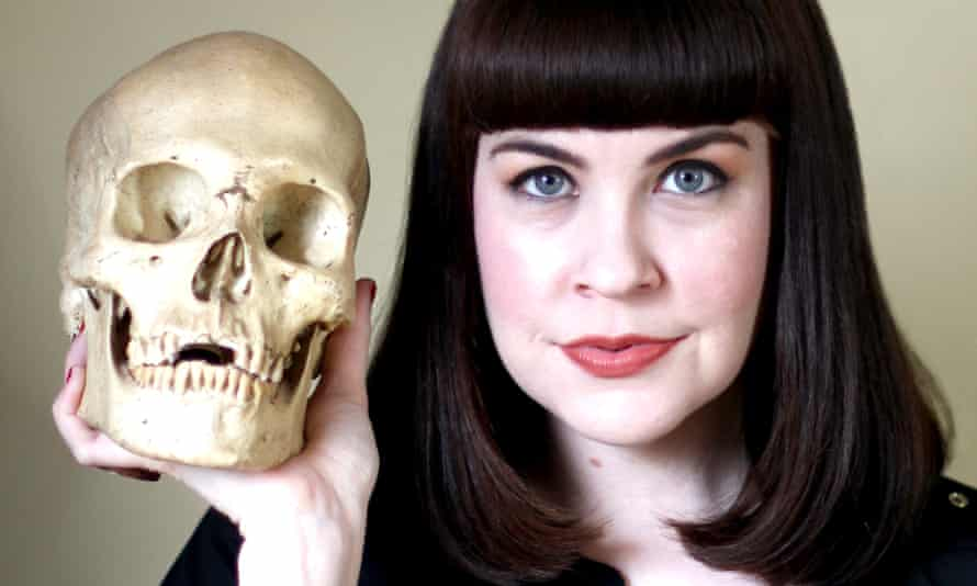 Caitlin Doughty and a friend