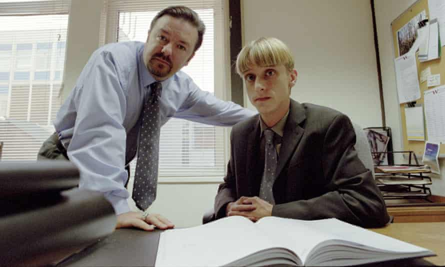 Slaves to the form … David Brent and Gareth Keenan in The Office.