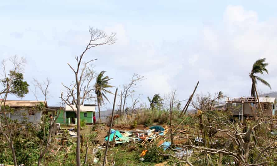 Devastation on the island of Dominica in the wake of Hurricane Maria