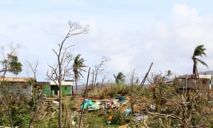 Wesley village, like many other parts of the island, has been stripped bare of vegetation by the storm