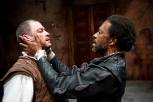 Dominic West and Clarke Peters as Iago and Othello at the Crucible, Sheffield in 2011.