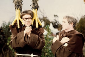 Eric Morecambe and Ernie Wise dressed as monks