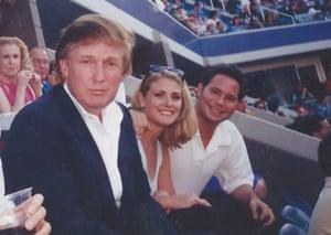 Amy Dorris sat between Donald Trump and Jason Binn athe the US Open in Queens 1997.