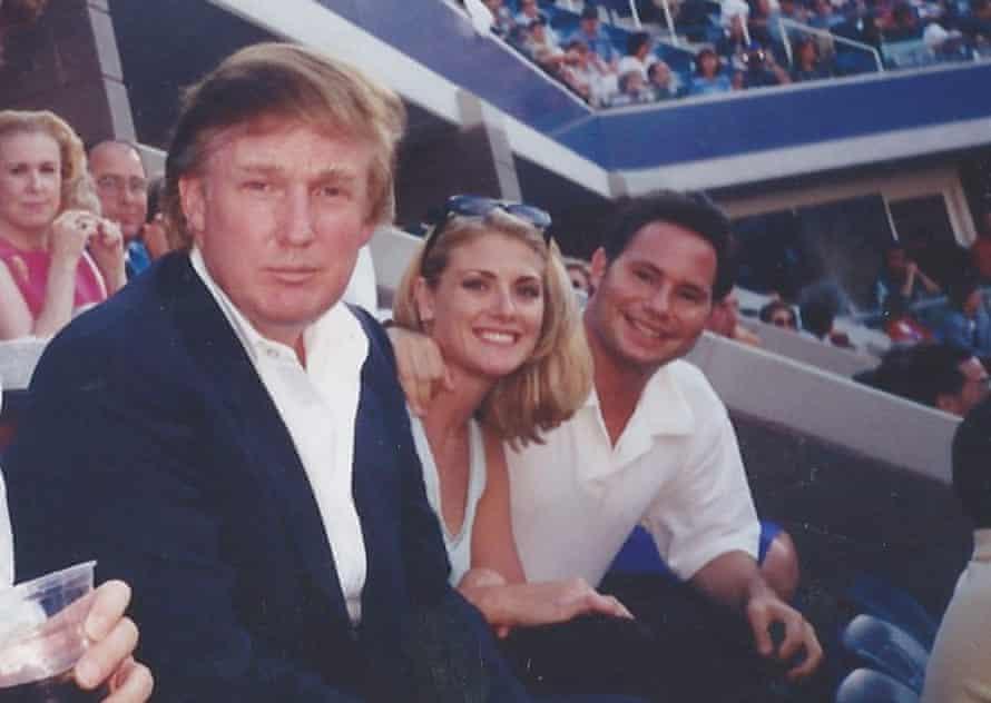 Amy Dorris sat between Donald Trump and Jason Binn at the US Open in Queens in 1997