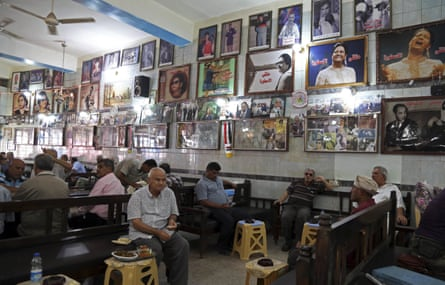 A cafe at al-Rasheed street, the oldest street in central Baghdad: