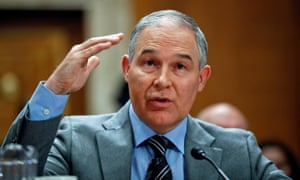 Scott Pruitt, chief of Environmental Protection Agency.