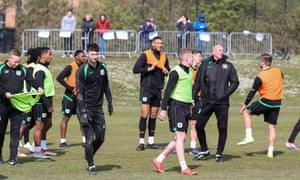 Yeovil players train with their fans watching on from a designated area. Neale Marmon spent most of his career in Germany, where sessions were often open.