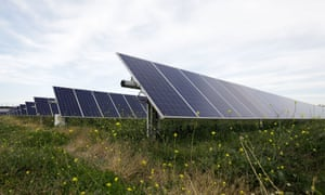 A solar farm in Dubbo. The Australian Energy Council has come out in support of net zero greenhouse gas emissions by 2050 and called on the federal government to set the target.