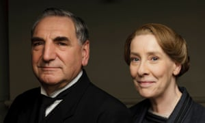 Ailing ... Jim Carter as Mr Carson and Phyllis Logan as Mrs Hughes.