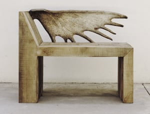 Rick Owens' Tomb Chair design, from 2014, made with elm wood.