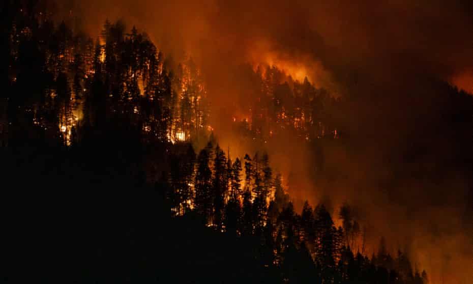 The Embleton Mountain wildfire.