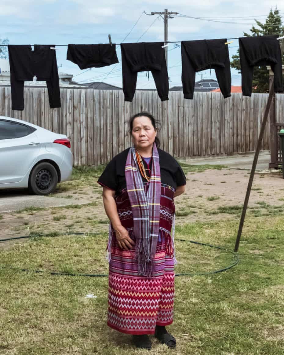 وریبی ، استرالیا.  ها مو مورو زنی کارن از اقلیت های قومی برمه است.