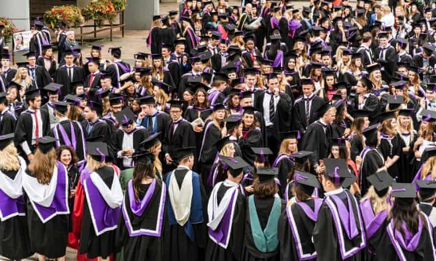 Students at graduation day.