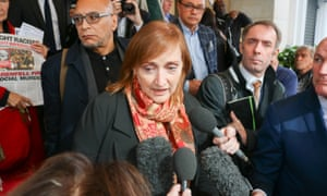 Emma Dent Coad, Labour MP for Kensington and Chelsea, attends the Grenfell Tower inquiry.