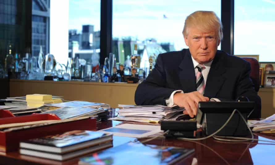 Donald Trump in his office in Trump Tower in Manhattan.