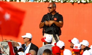 Security officer at Istanbul rally