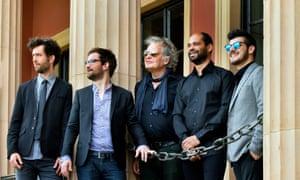 Emile Parisien, second from left, with his quintet.