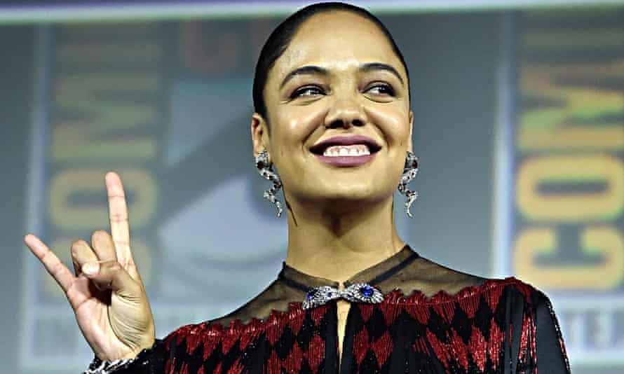 Tessa Thompson, aka Valkyrie, King of Asgard, at San Diego Comic-Con on 20 July 2019.