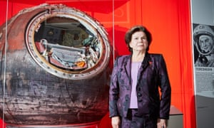 Valentina Tereshkova, the first woman in space, and the Vostok 6 spacecraft she travelled in