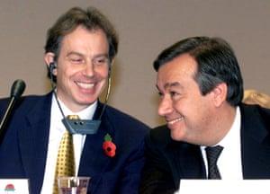 Tony Blair and António Guterres