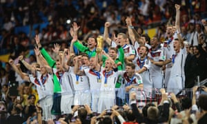 Germany celebrate winning the 2014 World Cup