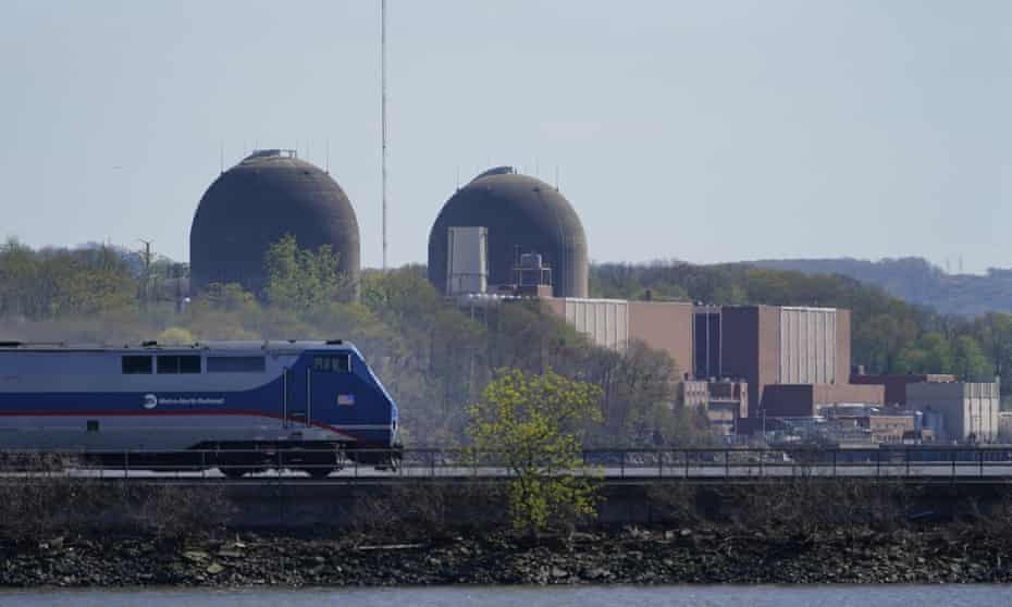 Sun, wind and nuclear. Indian Point Energy Center is seen on the Hudson River in Buchanan, New York, last week. Indian Point permanently stop producing nuclear power on Friday.