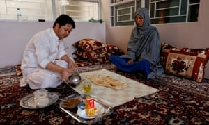 Sardar Sahil, a 30-year-old lawyer and rights activist, eats breakfast with his mother: 'We are living under siege for more than one and a half decades due to sectarian attacks'