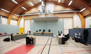The gym of the Skien prison where the appeal hearing will be held