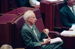 Brian Harradine in the Senate in February 1997