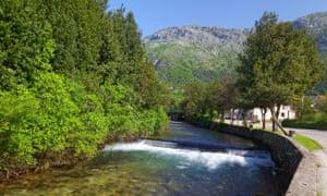 The Ljuta River in Konavle, south of Dubrovnik