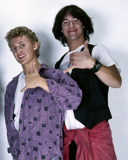 Alex Winter (left) and Keanu Reeves in the film Bill & Ted